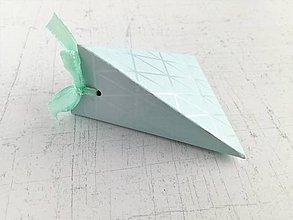 Papiernictvo - Krabičky na drobné darčeky (Tyrkysová) - 9848000_