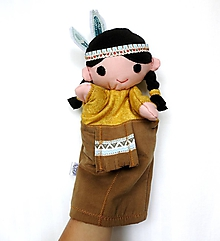 Hračky - Maňuška indián - Brezový Lístok - 9848485_