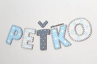 Tabuľky - PEŤKO písmenká z dreva - 9850239_