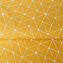 Textil - žlté úsečky, 100 % bavlna Francúzsko, šírka 160 cm - 9847649_