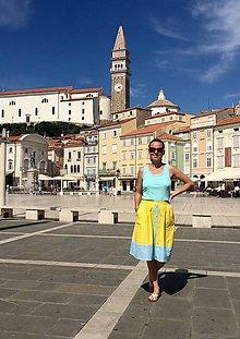 Sukne - letná žltá sukňa na dovolenku - 9850888_