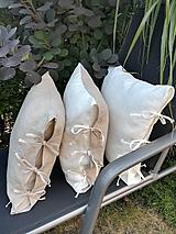 Úžitkový textil - Ľanová obliečka na vankúš - 9850603_