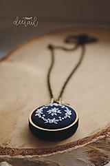 """Náhrdelníky - """"Modrotlač"""" - náhrdelník I. (dĺžka retiazky: 40 cm) - 9848740_"""