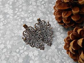 Iné šperky - Patinované sponky VIII. - DARČEK - 9850775_