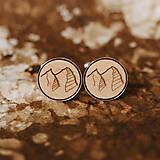 Šperky - hory ~ manžetové gombíky v lôžku - 9850571_