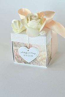 Papiernictvo - Svadobný exploding box vintage - 9850945_