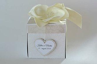 Papiernictvo - Svadobný exploding box béžový - 9850963_