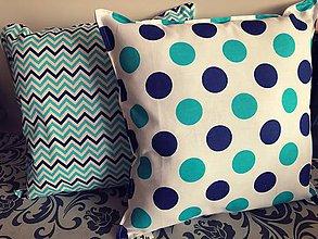 Úžitkový textil - Dekoračné vankúšiky  (Modrá) - 9847797_