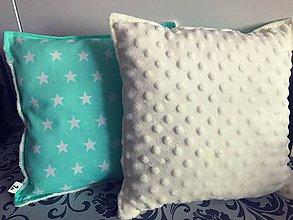 Úžitkový textil - Dekoračné vankúšiky  (Tyrkysová) - 9847799_