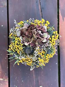 Dekorácie - Aranžmán - Kvetinový box zo sušených kvetov - 9848115_