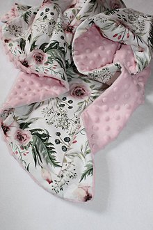 Textil - Minky deka Kvety, viac farieb na výber, 100x70cm - 9849541_