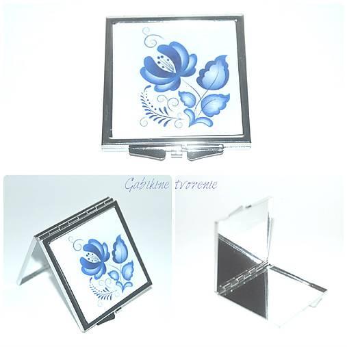 Zrkadlo v štýle FOLK v modrom
