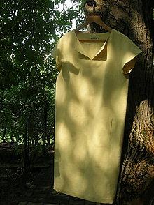 Šaty - Ľanové šaty slnečné :) - 9849472_