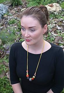 Náhrdelníky - Ručne maľovaný náhrdelník