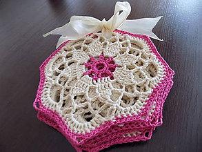 Úžitkový textil - Sada podložiek do kuchyne ružová - 9848706_