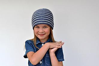 Detské čiapky - Špirálová pružná čiapka ~ návod na háčkovanie - 9848084_