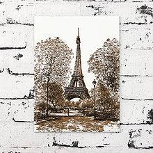 Obrazy - Eiffelovka v paríži - gravírovaný obrázok - 9848984_