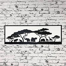 Dekorácie - Afrika - vyrezávaný obraz - 9849490_