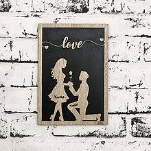 Dekorácie - Love - vyrezávaný obraz s vlastnými menami - 9849579_