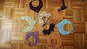 Náhrdelníky - Háčkované náhrdelníky - 9849111_