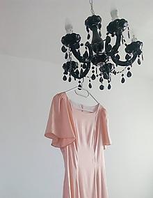 Šaty - Šaty ako z marhuľových lupeňov ruží  - 9847994_