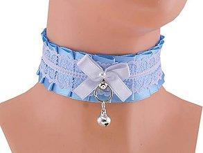 Náhrdelníky - Obojok čipkový, lolita, kawaii, gothic pastel, kitten play collar, BDSM, DDLG,pet play collar  0P71 - 9854280_