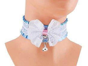 Náhrdelníky - Obojok čipkový, lolita, kawaii, gothic pastel, kitten play collar, BDSM, DDLG,pet play collar  0P72 - 9854281_