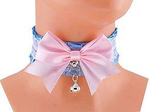 Náhrdelníky - Obojok čipkový, lolita, kawaii, gothic pastel, kitten play collar, BDSM, DDLG,pet play collar  0P73 - 9854282_
