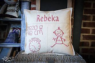 Úžitkový textil - Vankúšik pre novorodenca