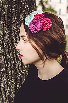 Ozdoby do vlasov - Magnóliová rosa - čelenka - 9852563_