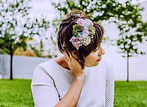 Ozdoby do vlasov - Ružové sny - 9852823_