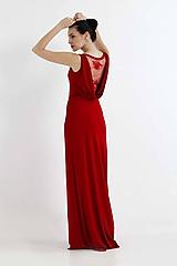 Šaty - Šaty vínovo červené s čipkou - 9851113_