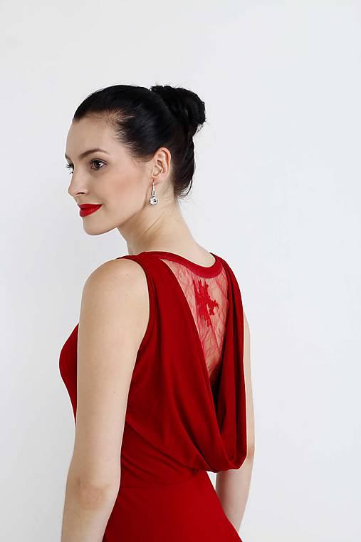 d559e9e5940d Šaty vínovo červené s čipkou   ZuzanaZachar - SAShE.sk - Handmade Šaty