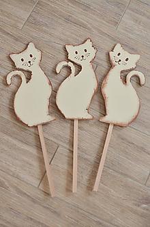 Dekorácie - Hnedé mačičky - 9852902_