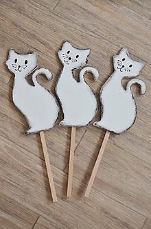 Dekorácie - Mačičky zápichy - 9852956_