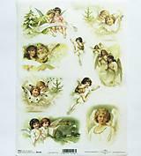- Ryžový papier na decoupage -A4-R196 - anjeli, deti, vianoce - 9851770_