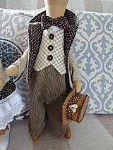 Bábiky - Myší  vintage párik - 9853060_