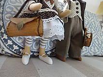 Bábiky - Myší  vintage párik - 9853061_