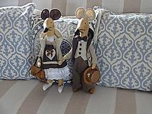 Bábiky - Myší  vintage párik - 9853063_