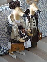 Bábiky - Myší  vintage párik - 9853064_