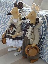 Bábiky - Myší  vintage párik - 9853065_