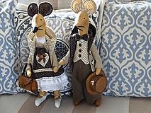 Bábiky - Myší  vintage párik - 9853823_