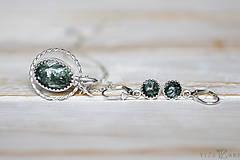 Sady šperkov - Strieborná súprava so serafinitom - Serafinitová jemnosť - 9851413_