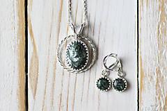 Sady šperkov - Strieborná súprava so serafinitom - Serafinitová jemnosť - 9851414_