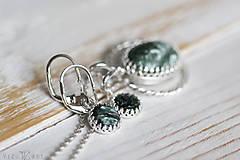 Sady šperkov - Strieborná súprava so serafinitom - Serafinitová jemnosť - 9851415_