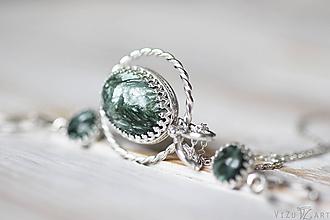 Sady šperkov - Strieborná súprava so serafinitom - Serafinitová jemnosť - 9851412_