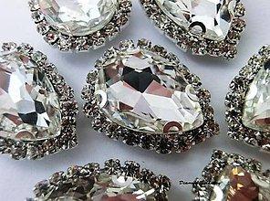Galantéria - Našívacia sklenená aplikácia - Crystal - 9852371_