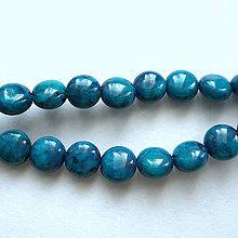 Minerály - MARBLE drops-1ks (6mm-modrá) - 9853104_