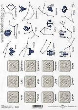 Papier - Ryžový papier Znamenia zverokruhu - 9853692_