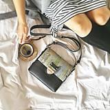 - Kožená kabelka (ručne maľovaná Hmlisté ráno) - 9851102_